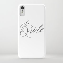 Lettered Bride iPhone Case