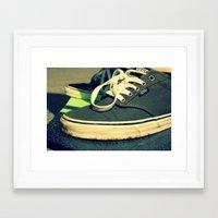 vans Framed Art Prints featuring Vans® by Sarah Skupien