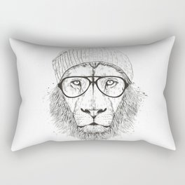Cool lion (bw) Rectangular Pillow