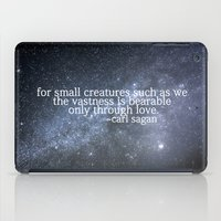 sagan iPad Cases featuring Carl Sagan and the Milky Way by Astrophotos by McLeod