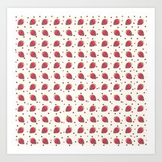 AFE Chocolate Strawberries Pattern Art Print