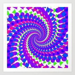 Abstract Spiral Pattern Art Print