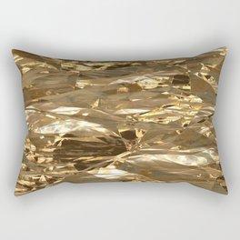 Gold Metal Rectangular Pillow