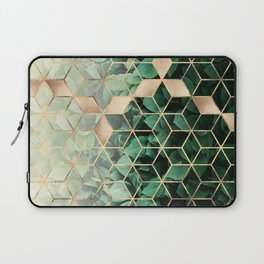 Leaves And Cubes Laptop Sleeve