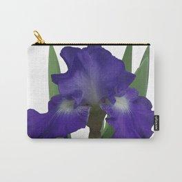 Stellar Lights, Deep blue-violet Iris Carry-All Pouch