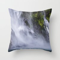 waterfall Throw Pillows featuring Waterfall.. by Michelle McConnell