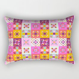 Maroccan tiles pattern with pink no4 Rectangular Pillow