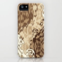 Ikat Medallions: Brown iPhone Case