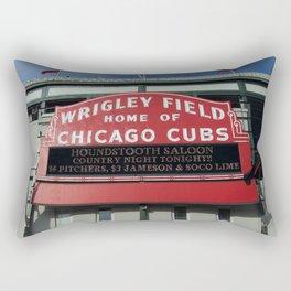 Chicago Wrigley Field Sign Rectangular Pillow