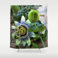 passion Shower Curtains featuring Passion by Adventures In Staceland
