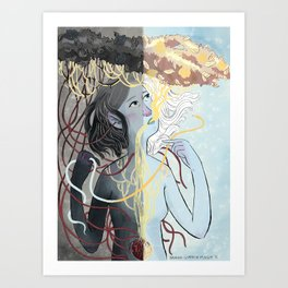 Dark and Light Art Print