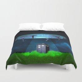 Tardis UFO Duvet Cover