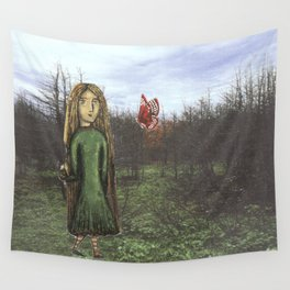 Green Girl Wall Tapestry