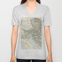 Austria Vintage Map Unisex V-Neck