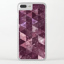 Abstract Geometric Background #24 Clear iPhone Case