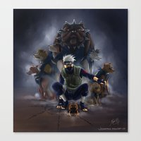 kakashi Canvas Prints featuring Kakashi by Jeannette
