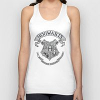 hogwarts Tank Tops featuring Hogwarts by Cécile Pellerin