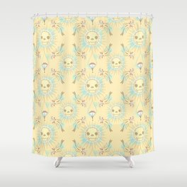 NO ONE EVER REALLY DIES Shower Curtain