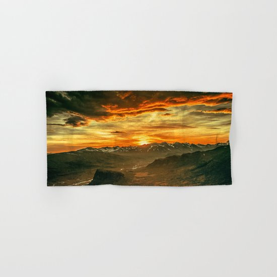 Mountains Ablaze Hand & Bath Towel