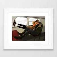stucky Framed Art Prints featuring Stucky Modern AU part 1 by Marty-mc
