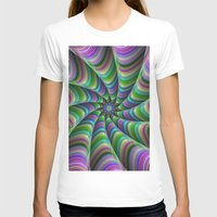 striped T-shirts featuring Striped tentacles by David Zydd