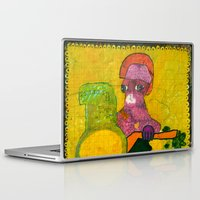 motorcycle Laptop & iPad Skins featuring Motorcycle  by Vera A. Fehér