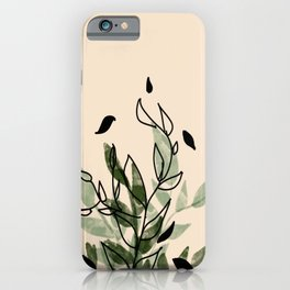 Green and black leaves iPhone Case