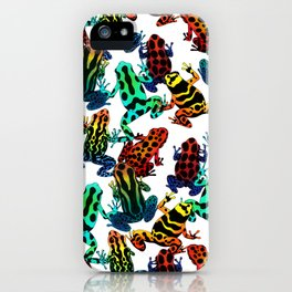 TOXIC FROGS PATTERN iPhone Case