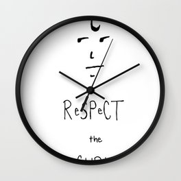 Respect the Curl Wall Clock