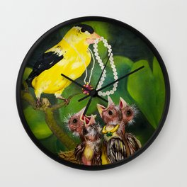 Feeding the Young Wall Clock