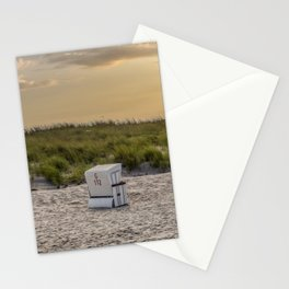 Relax At Baltic Sea Beach Sunset Stationery Cards