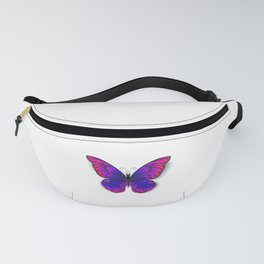 Tricolored Butterfly Fanny Pack