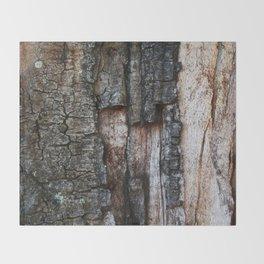 Tree Bark close up Throw Blanket