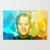 bill Canvas Prints featuring Bill by Tom Johnson