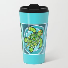 Funky Green Turtle Travel Mug