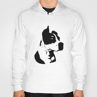 pitbull Hoodies featuring Pitbull Love! by Kristen Lord