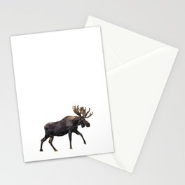 Polygon geometric Moose Stationery Cards