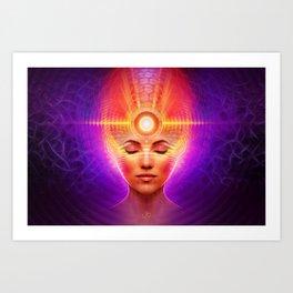 Mind Molecular Congruence Art Print