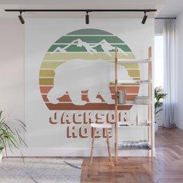 Jackson Hole Wyoming Bear Sunset Retro Gifts Wall Mural