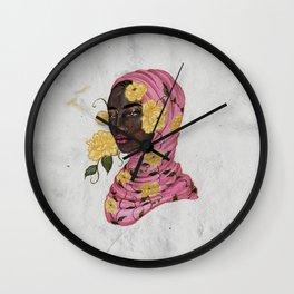 Floral Arrangements: Peony Wall Clock
