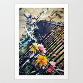 Bikes in Oxford Art Print