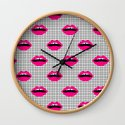Lips minimal grid  black and white pattern cute gift for valentines day love lipstick by charlottewinter