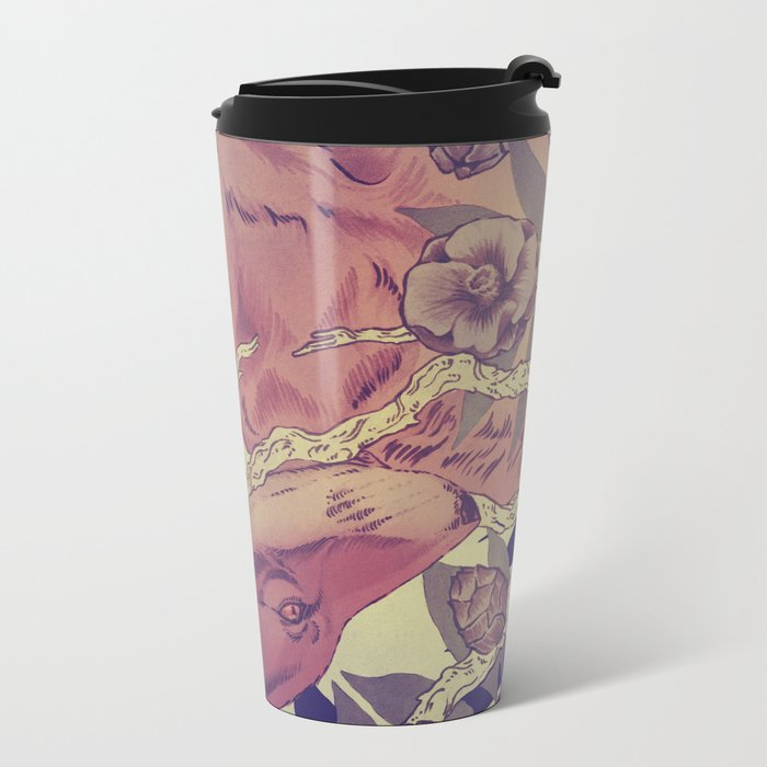 Right under your nose Metal Travel Mug