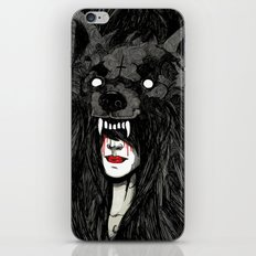 of wolf and men iPhone Skin