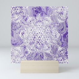 Marble Mandala Twist XI Mini Art Print