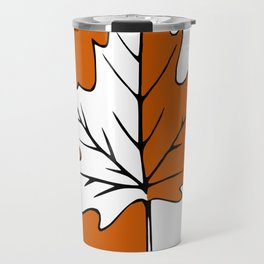 Maple Leaf (orange + white) Travel Mug