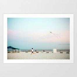 Running Beach Art Print