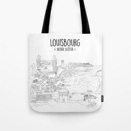 Louisbourg Nova Scotia, Illustrated Tote Bag