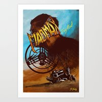 mad max Art Prints featuring Mad Max by marourin