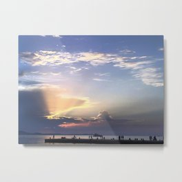 Brilliant Sunset In Dubrovnik - Croatia Metal Print